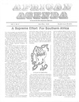 African Agenda, April & May, 1976 by African American Solidarity Committee