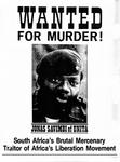 Wanted for Murder! Jonas Savimbi of Unita