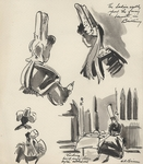 Untitled [1945 Trip to France, Drawing 002] by John Fischetti