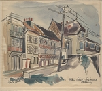 """Main Street, St. Laurent, Brittany"" by John Fischetti"
