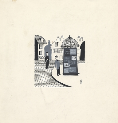 1953 trip to France, Drawing 002