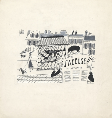1953 trip to France, Drawing 001