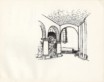 1974 trip to Mexico, Drawing 004