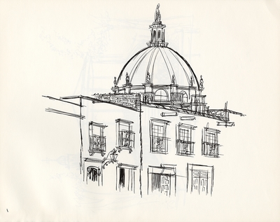 1974 trip to Mexico, Drawing 007