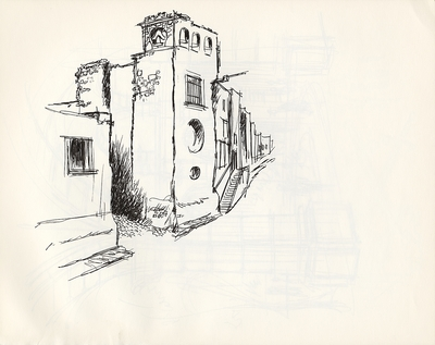 1972 trip to Mexico, Drawing 009