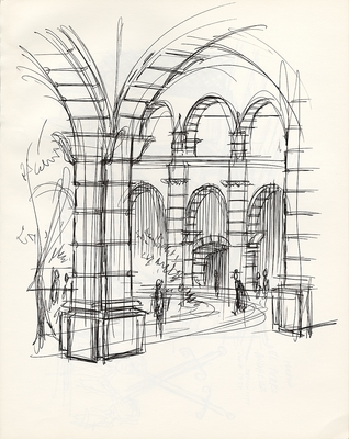 1973 trip to Mexico, Drawing 010