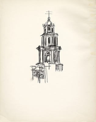 1974 trip to Mexico, Drawing 013