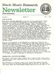 Black Music Research Newsletter, Fall 1978 by Samuel Floyd