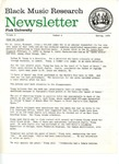 Black Music Research Newsletter, Spring 1979 by Samuel Floyd