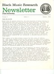 Black Music Research Newsletter, Summer 1979 by Samuel Floyd