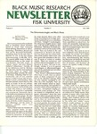 Black Music Research Newsletter, Fall 1980 by Samuel Floyd