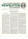 Black Music Research Newsletter, Spring 1982