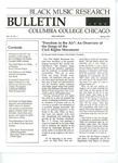 Black Music Research Bulletin, Spring 1990