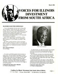 Voices for Illinois Divestment from South Africa by Coalition for Illinois Divestment from South Africa