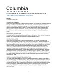 Guide to the Caleb Dube Collection by Columbia College Chicago