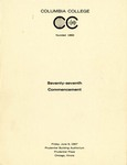 1967 Commencement Program