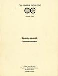 1967 Commencement Program
