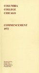 1972 Commencement Program
