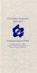 1988 Commencement Program