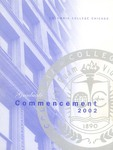 2002 Graduate Commencement Program by Columbia College Chicago