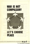 War Is Not Compulsory: Let's Choose Peace