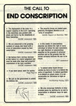 The Call to End Conscription by Commission for Justice and Peace
