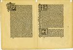 """Leaf, side 2: """"The History of Godefrey of Bologne and of the Conquest of Iherusalem"""", 1893 by William Morris"""
