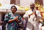 Mozambique Election Photograph - Joaquim Chissano and Marcelina Chissano by Mario Cossa
