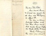 William Harrington Beard correspondence to Phi Sigma by Phi Sigma and William Harrington Beard