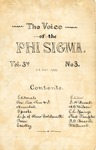 The Voice of the Phi Sigma -- 1880 -- Volume 03, No. 03 by Phi Sigma