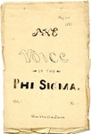 The Voice of the Phi Sigma -- 1881 -- Volume 03, No. 14
