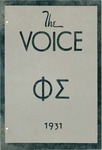 The Voice of the Phi Sigma -- 1931 --
