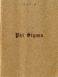 1908-1909 Annual Program by Phi Sigma