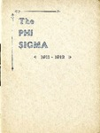 1911-1912 Annual Program by Phi Sigma