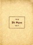 1916-1917 Annual Program