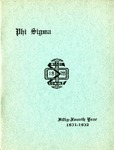 1931-1932 Annual Program