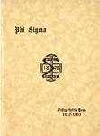 1932-1933 Annual Program