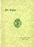 1933-1934 Annual Program