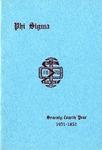 1951-1952 Annual Program