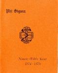 1972-1973 Annual Program