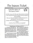 The Season Ticket, Fall 1999 by Columbia College Chicago