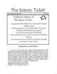 The Season Ticket, Spring 2001 by Columbia College Chicago
