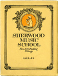 Sherwood Music School Annual Catalog 1922-1923