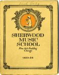 Sherwood Music School Annual Catalog 1923-1924