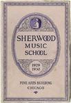 Sherwood Music School Annual Catalog 1929-1930