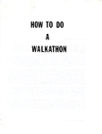 How to do a Walkathon